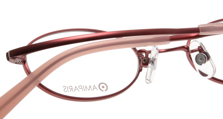アミパリ TS-8040-6-44 [メタル/鯖江産/オーバル/赤]  4