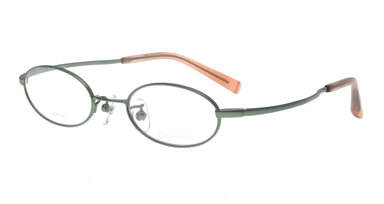 アミパリ TS-8040-7-44 [メタル/鯖江産/オーバル/緑]