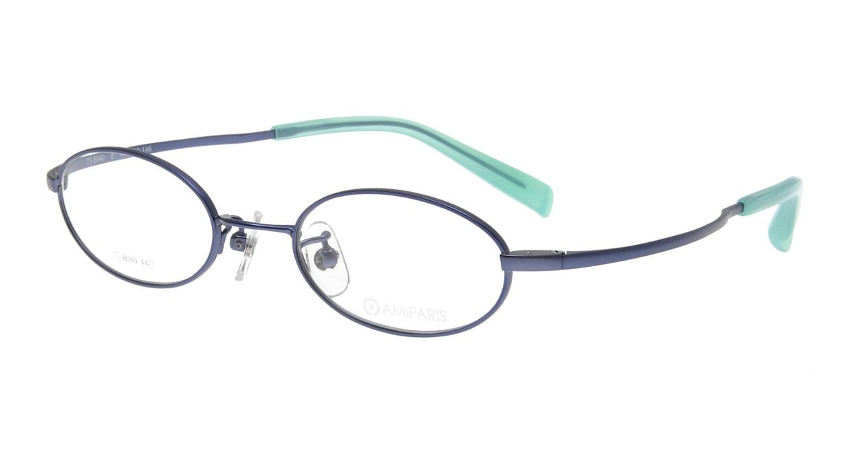 アミパリ TS-8040-8-44 [メタル/鯖江産/オーバル/青]