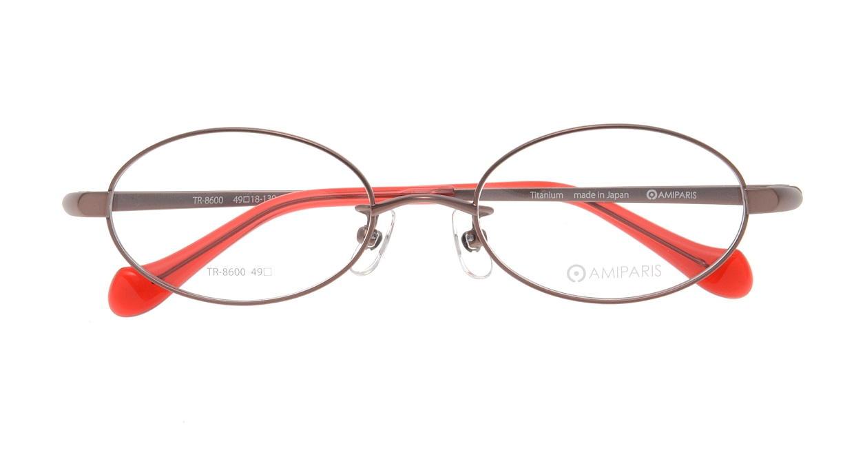 アミパリ TR-8600-3-49 [メタル/鯖江産/オーバル/ピンク]  3