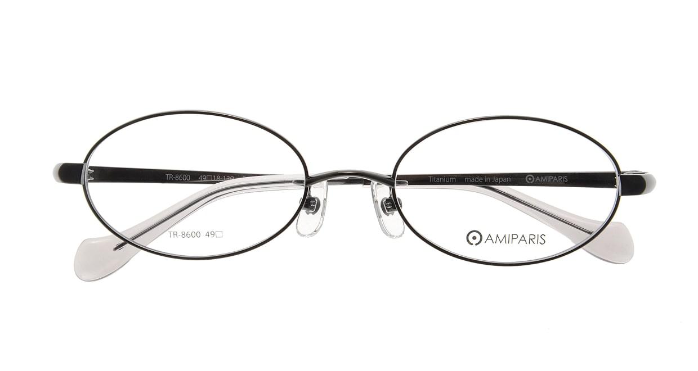 アミパリ TR-8600-5-49 [メタル/鯖江産/オーバル/グレー]  3