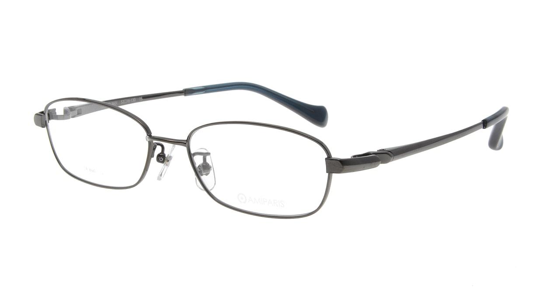 アミパリ TR-8601-15-52 [メタル/鯖江産/スクエア/グレー]