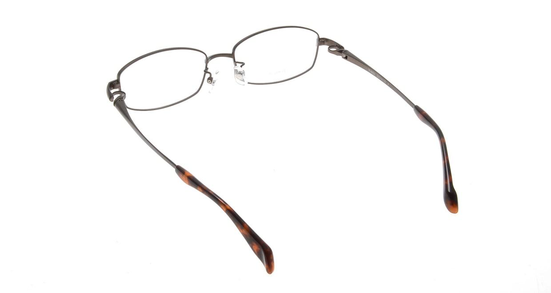アミパリ TR-8602-4-52 [メタル/鯖江産/スクエア/茶色]  2