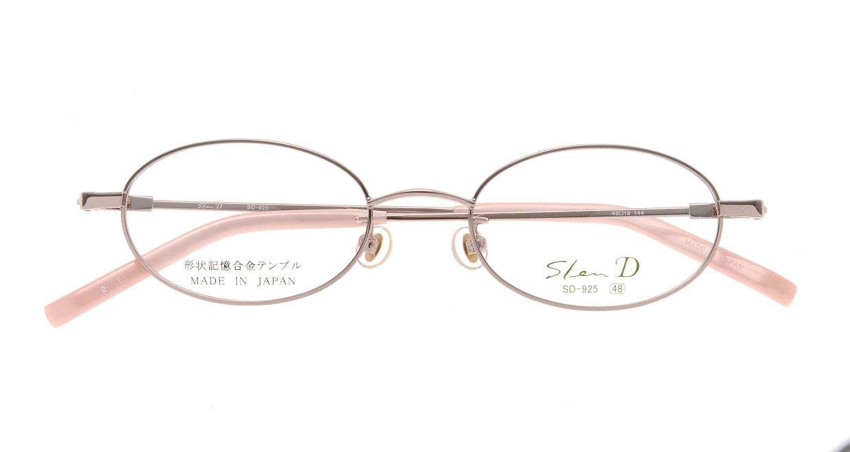 スレンディー SD925-2 [メタル/鯖江産/オーバル/ピンク]  3