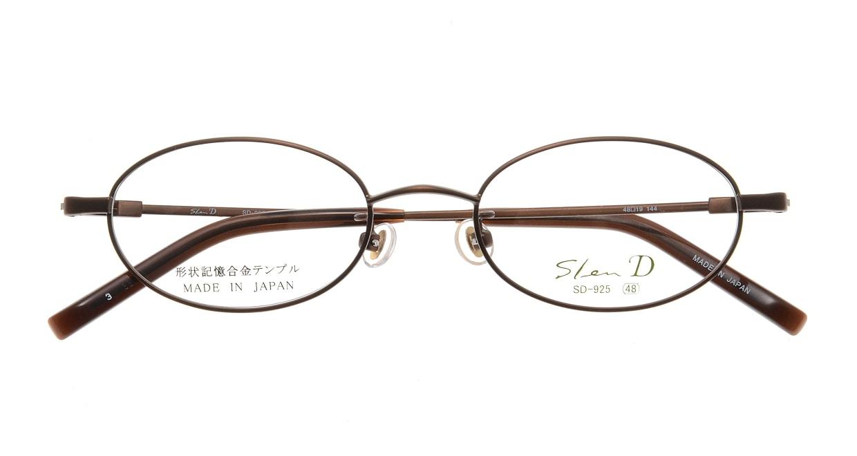 スレンディー SD925-3 [メタル/鯖江産/オーバル/茶色]  3