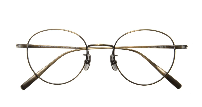 Oh My Glasses TOKYO Cecil omg-064 3-47 [メタル/鯖江産/丸メガネ/ゴールド]  3