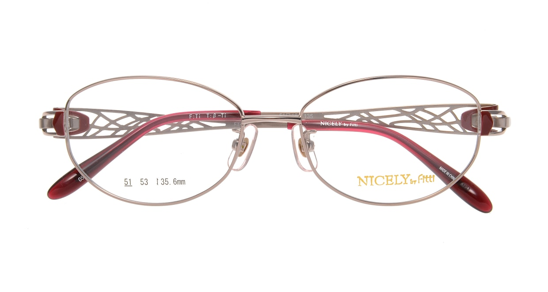 ナイスリー by フィッティ FT-135-05-51 [メタル/オーバル/ピンク]  3