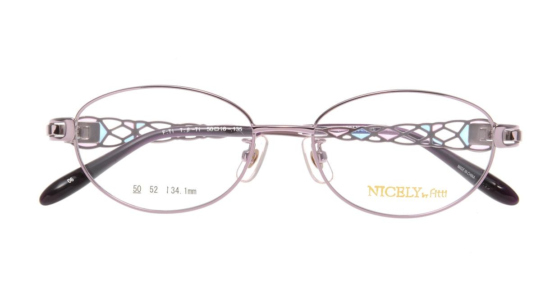 ナイスリー by フィッティ FT-137-06-50 [メタル/オーバル/紫]  3