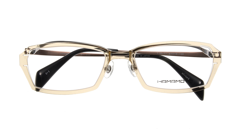 ハマモト HT-045-C1 [鯖江産/スクエア/肌色]  3
