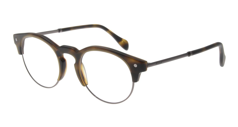 マーシャルアイウェア HENRY Opt-Olive Turtle MA0064-606000-101 [丸メガネ/茶色]