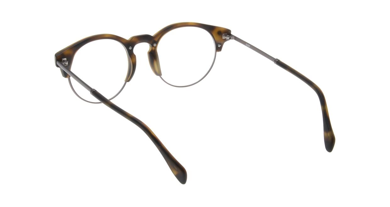 マーシャルアイウェア HENRY Opt-Olive Turtle MA0064-606000-101 [丸メガネ/茶色]  2