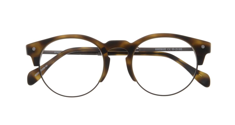 マーシャルアイウェア HENRY Opt-Olive Turtle MA0064-606000-101 [丸メガネ/茶色]  3