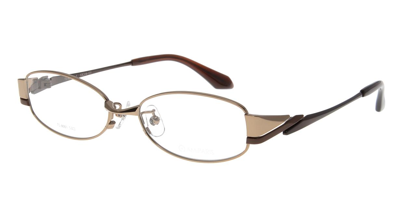 アミパリ TS-8001-1-53 [メタル/鯖江産/スクエア/ゴールド]
