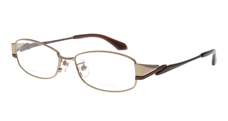 アミパリ TS-8002-1-55 [メタル/鯖江産/スクエア/ゴールド]