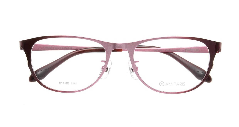 アミパリ TP-8501-93-51 [メタル/鯖江産/ウェリントン/ピンク]  3