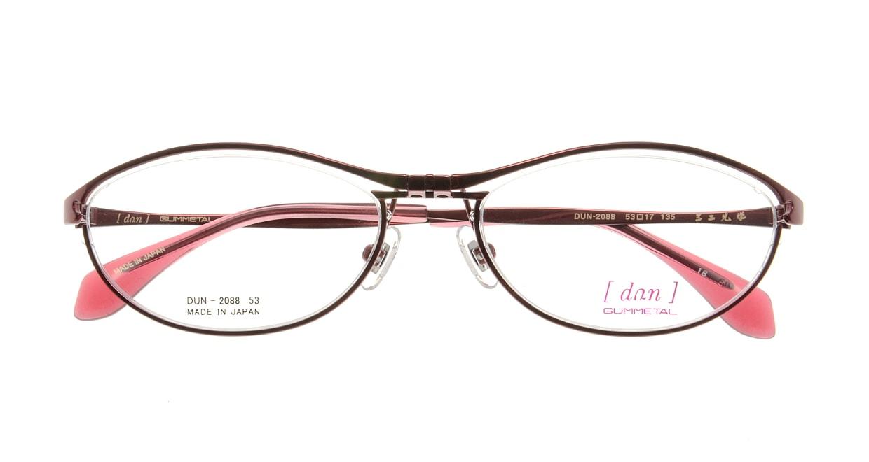 ドゥアン DUN2088-18 [メタル/鯖江産/オーバル/赤]  3
