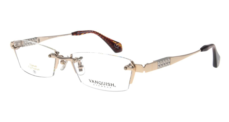 ヴァンキッシュ VQ-1061-C-1-LG [メタル/縁なし/スクエア/ゴールド]