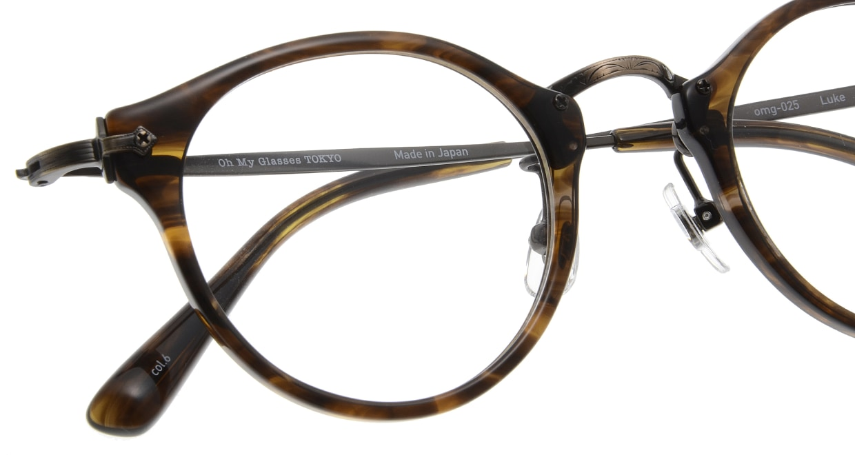 Oh My Glasses TOKYO Luke omg-025-6 [鯖江産/丸メガネ/茶色]  4