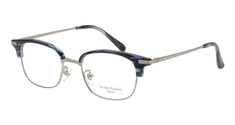 Oh My Glasses TOKYO Henry omg-041 6-50 [鯖江産/ウェリントン/青]