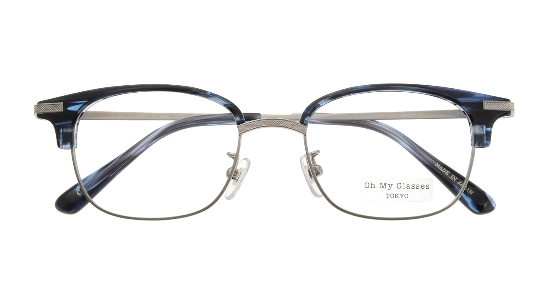Oh My Glasses TOKYO Henry omg-041 6-50 [鯖江産/ウェリントン/青]  3