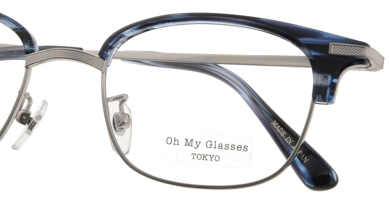Oh My Glasses TOKYO Henry omg-041 6-50 [鯖江産/ウェリントン/青]  4