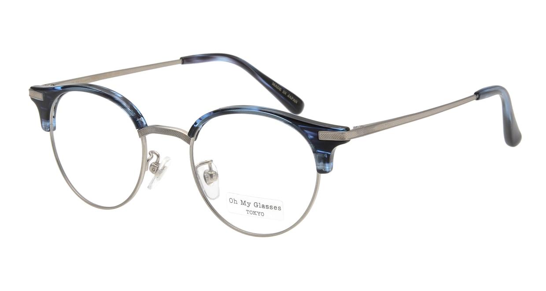 Oh My Glasses TOKYO Eric omg-042 6-47 [鯖江産/丸メガネ/青]