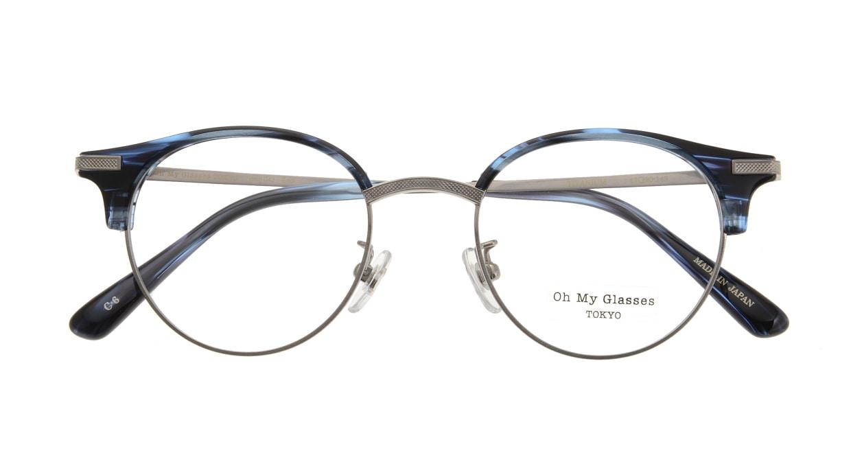 Oh My Glasses TOKYO Eric omg-042 6-47 [鯖江産/丸メガネ/青]  3