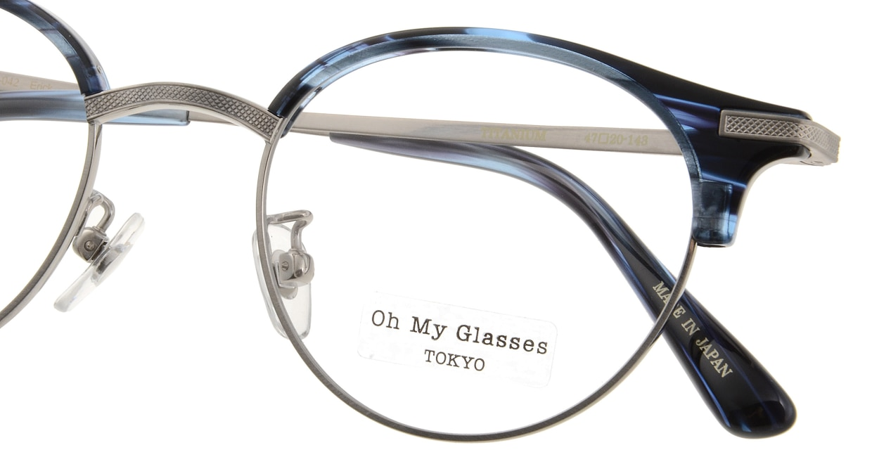 Oh My Glasses TOKYO Eric omg-042 6-47 [鯖江産/丸メガネ/青]  4