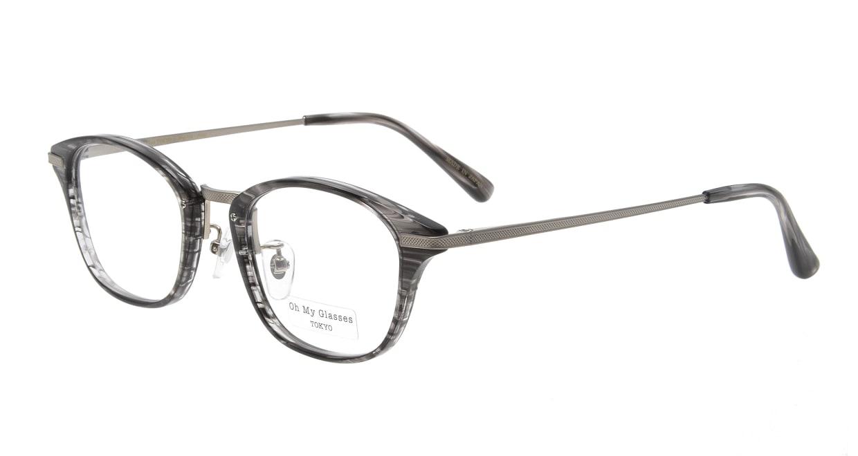 Oh My Glasses TOKYO Philip omg-054 5-48 [鯖江産/ウェリントン/グレー]