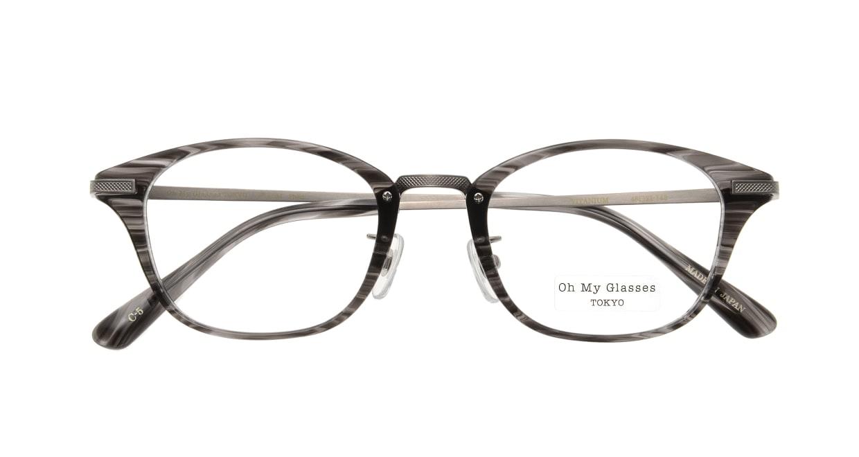 Oh My Glasses TOKYO Philip omg-054 5-48 [鯖江産/ウェリントン/グレー]  3