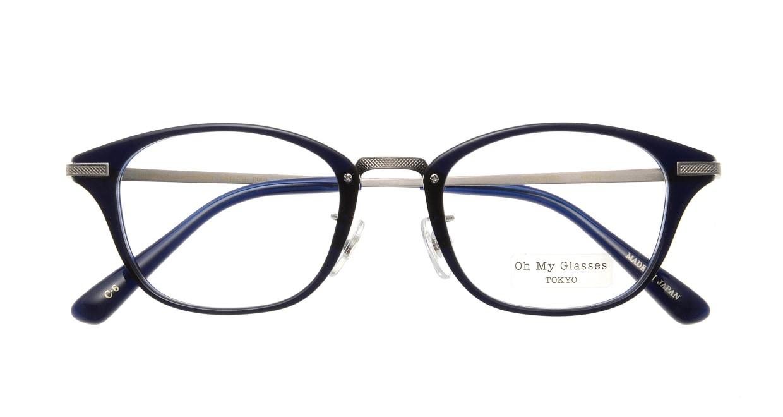 Oh My Glasses TOKYO Philip omg-054 6-48 [鯖江産/ウェリントン/青]  3