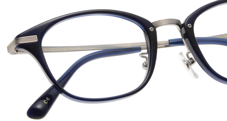 Oh My Glasses TOKYO Philip omg-054 6-48 [鯖江産/ウェリントン/青]  4