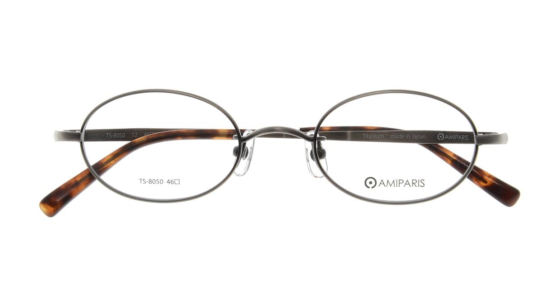 アミパリ TS-8050-12-46 [メタル/鯖江産/ハーフリム/オーバル/グレー]  3