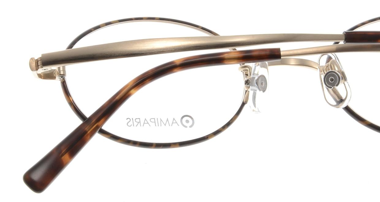アミパリ TS-8050E-21-46 [メタル/鯖江産/ハーフリム/オーバル/べっ甲柄]  4