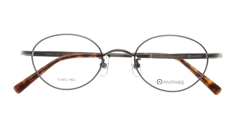 アミパリ TS-8052-12-46 [メタル/鯖江産/ハーフリム/オーバル/グレー]  3