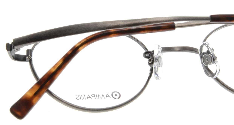 アミパリ TS-8052-12-46 [メタル/鯖江産/ハーフリム/オーバル/グレー]  4