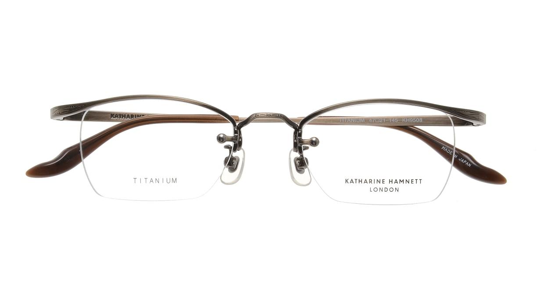 キャサリンハムネット KH9508-2-47 [メタル/鯖江産/スクエア/茶色]  3