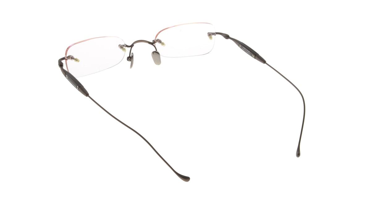メナジェイ M083A-BR [メタル/鯖江産/縁なし/スクエア/茶色]  2