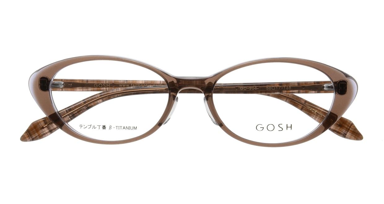 ゴッシュ GO-906-2 [日本製・鯖江産/オーバル/茶色]  3