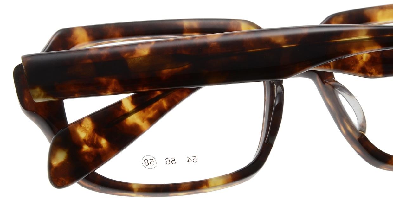 フーパス NO565-C-29-58 [日本製・鯖江産/スクエア/べっ甲柄]  4