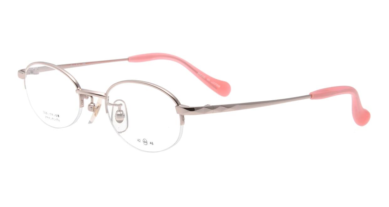 スキップ S-59-C-1 [メタル/鯖江産/ハーフリム/オーバル/ピンク]