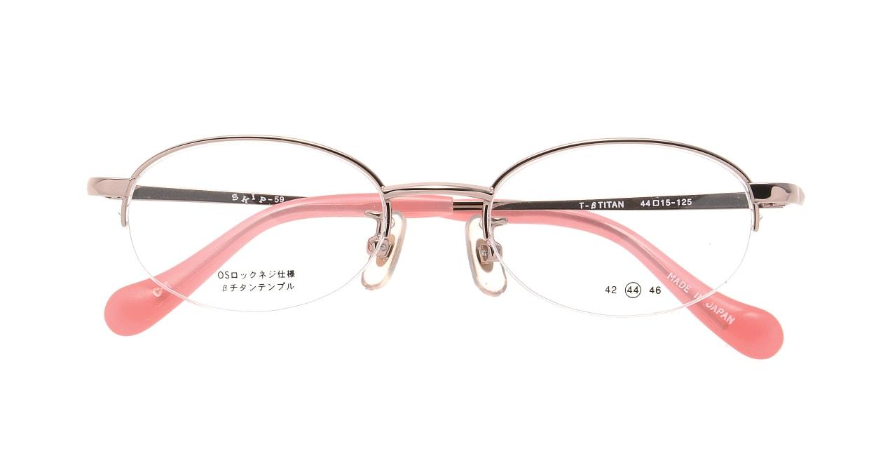 スキップ S-59-C-1 [メタル/鯖江産/ハーフリム/オーバル/ピンク]  3