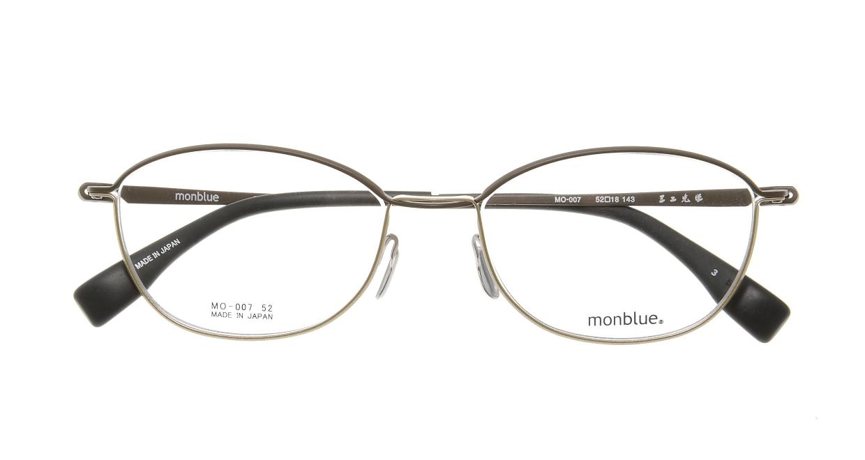 モンブルー MO007-3 [メタル/鯖江産/ウェリントン/茶色]  3