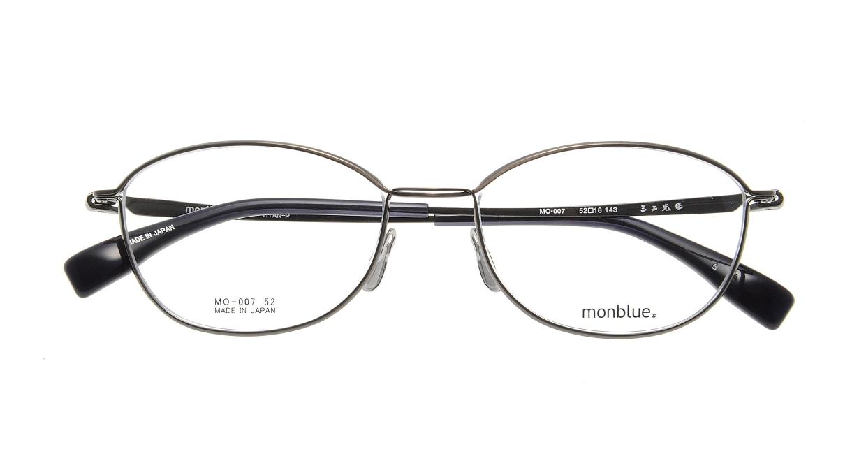 モンブルー MO007-5 [メタル/鯖江産/ウェリントン/グレー]  3