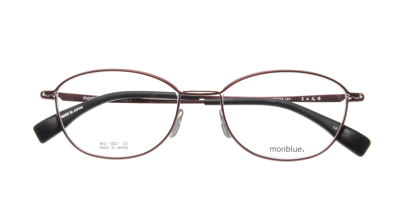 モンブルー MO007-18 [メタル/鯖江産/ウェリントン/赤]  3