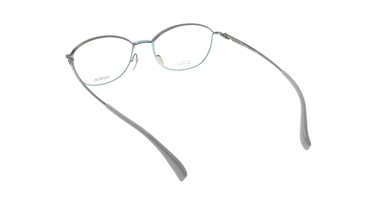 モンブルー MO007-62 [メタル/鯖江産/ウェリントン/緑]  2