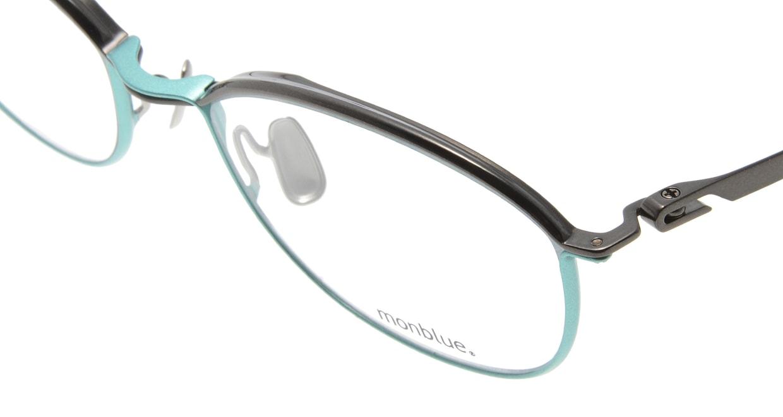 モンブルー MO007-62 [メタル/鯖江産/ウェリントン/緑]  4