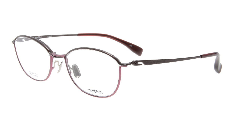 モンブルー MO007-63 [メタル/鯖江産/ウェリントン/ピンク]