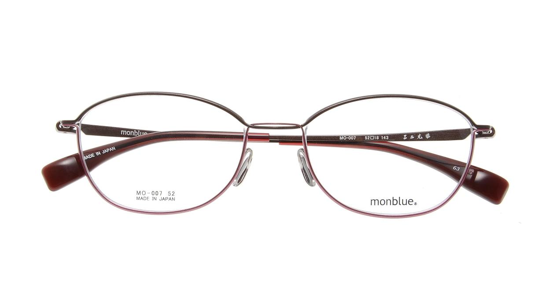 モンブルー MO007-63 [メタル/鯖江産/ウェリントン/ピンク]  3