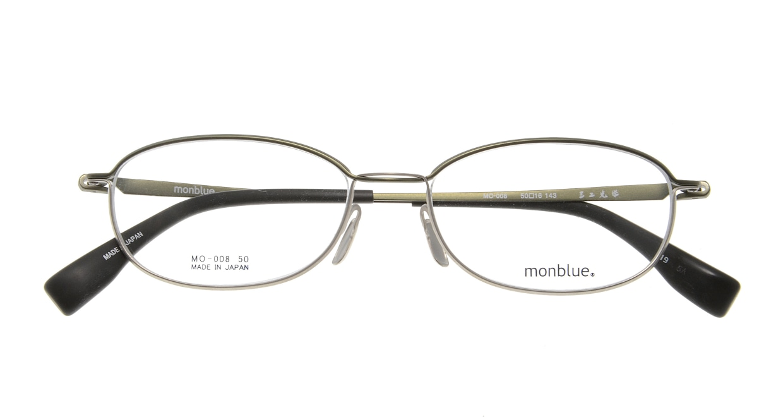 モンブルー MO008-19 [メタル/鯖江産/スクエア/ベージュ]  3
